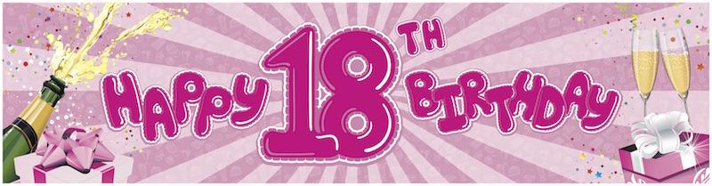 18th Birthday-pink