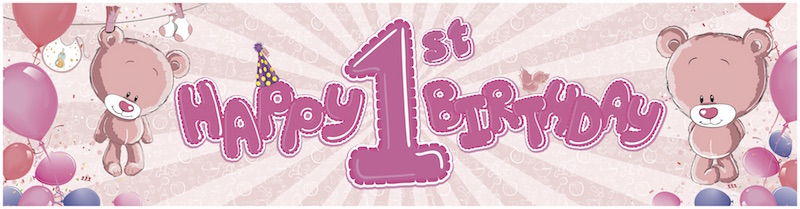 1st birthday pink