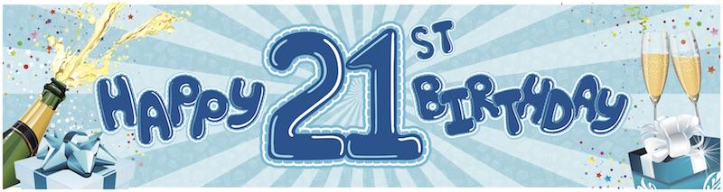 21st Birthday-blue
