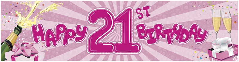 21st Birthday-pink
